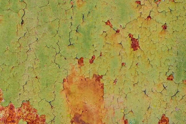 Textura do fundo da parede de ferro pintado vintage