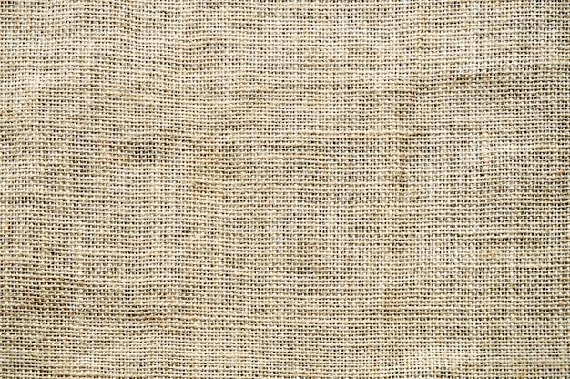 Textura do fundo de pano de saco do close-up.
