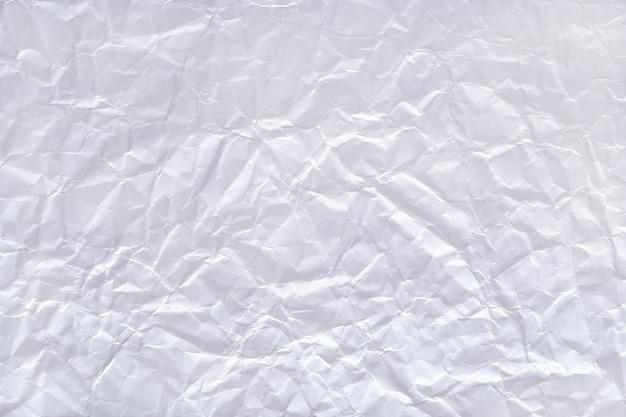 Textura do papel amassado branco