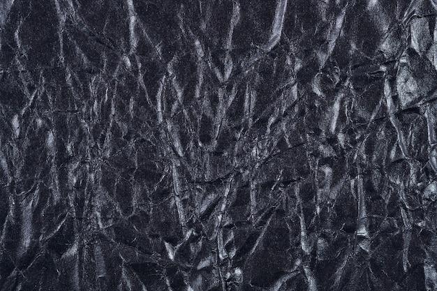 Textura do papel preto amassado