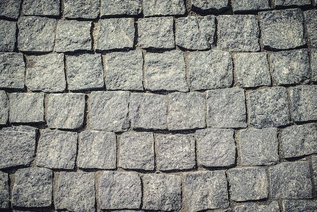 Textura do pavimento cinza de pedra
