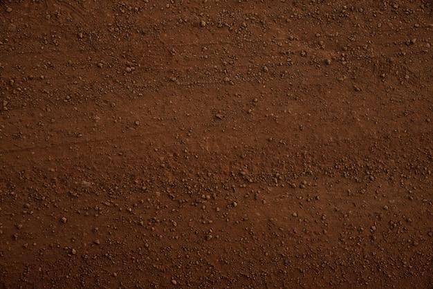 Textura do solo marrom e fundo