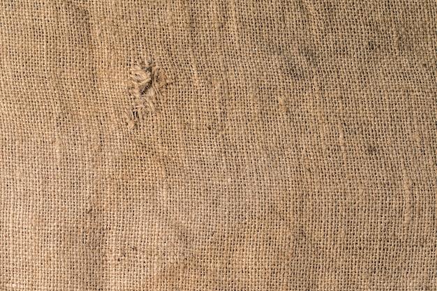 Textura do velho pano de saco rústico para superfície