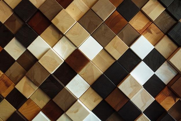 Textura e cor diferentes da madeira, quadrado, fundo bonito