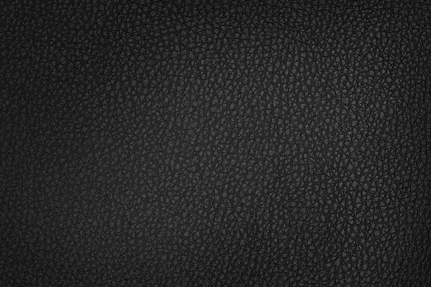 Textura e fundo de couro preto