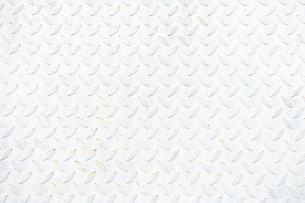 Textura e fundo velhos da placa de assoalho do metal branco. cópia em branco de reposição.