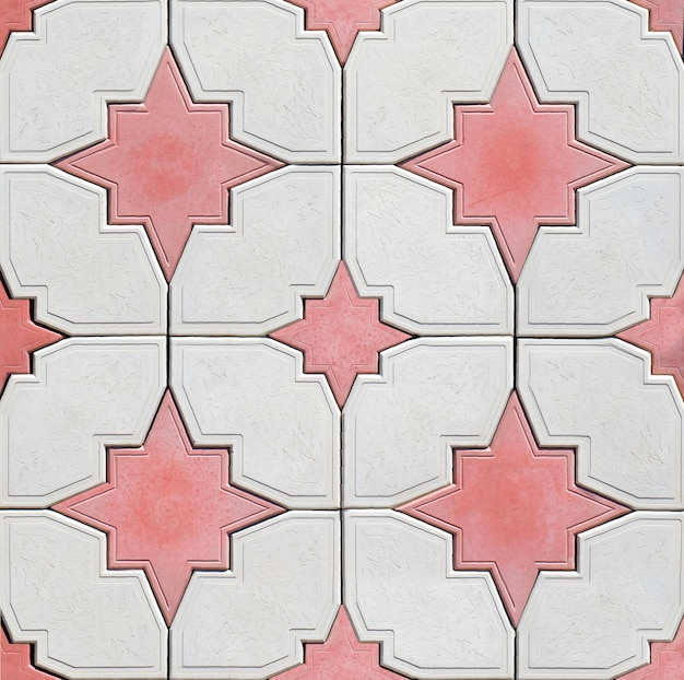 Textura em forma de estrela de uma parede de pedra