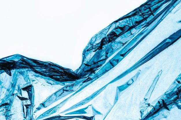 Textura enrugada de envoltório de plástico