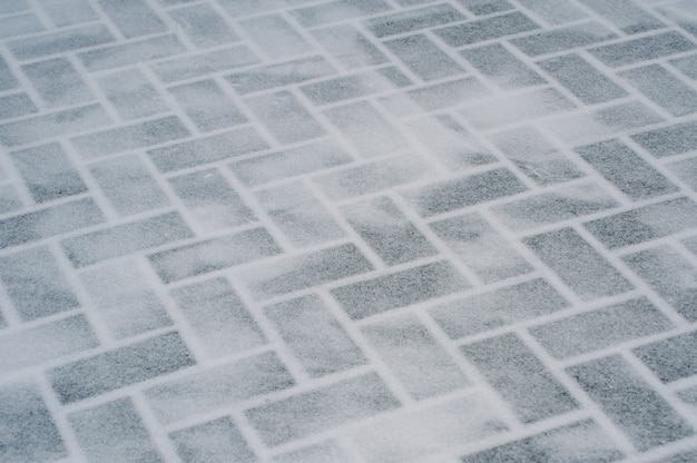 Textura feita de tijolos de gelo transparentes