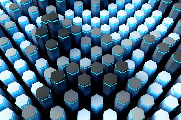 Textura geométrica abstrata azul