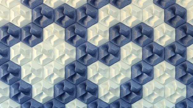 Textura interior branca e azul, padrão sem emenda. ilustração 3d, renderização em 3d.