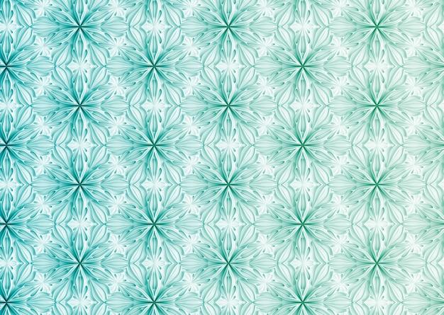 Textura leve sem costura de pétalas de flores elegantes tridimensionais com base na ilustração 3d da grade hexagonal