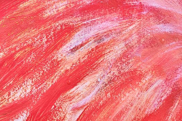 Textura metálica com tinta pulverizada com fundo branco e vermelho