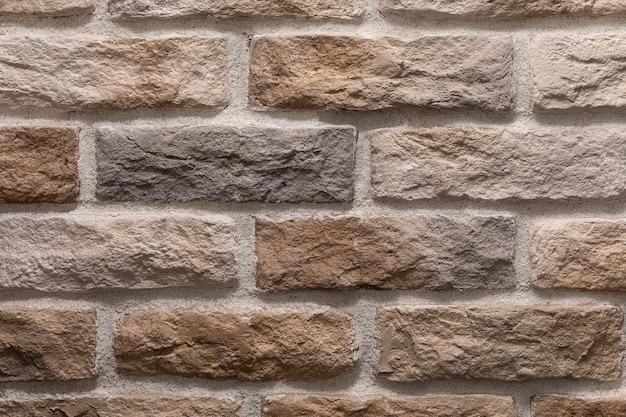 Textura moderna de parede de tijolo marrom