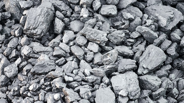 Textura natural de carvão duro para segundo plano. indústria de carvão