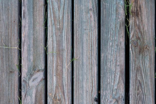Textura ou fundo de pranchas cinza colocadas verticalmente e com veios de madeira
