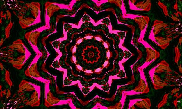Textura ou padrão de caledoscópio sem costura flor rosa caleidoscópio, bom para papel de embrulho, planos de fundo, papel de parede e impressões têxteis.