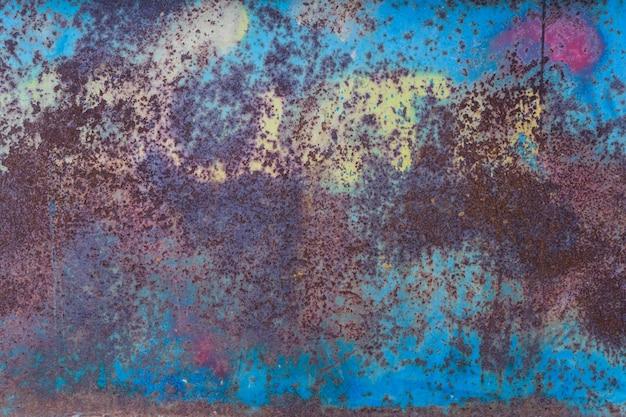 Textura oxidada desgastada azul do metal. efeito grange
