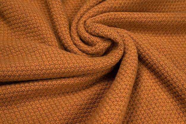 Textura padrão de tecido de malha marrom