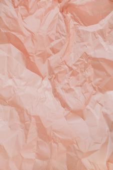 Textura pastel de papel amassado de pêssego