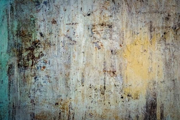 Textura pintada de aço metálico enferrujado como fundo