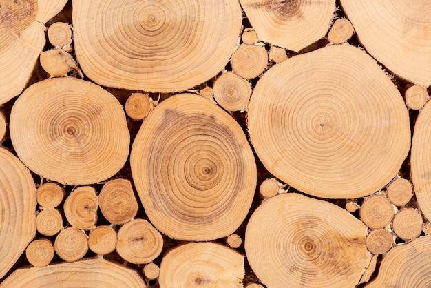Textura plana de madeira natural