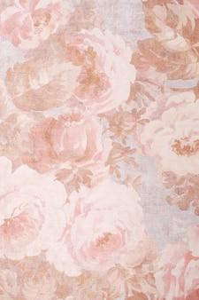 Textura, plano de fundo, padrão. tecido de seda cores requintadas com peônias.