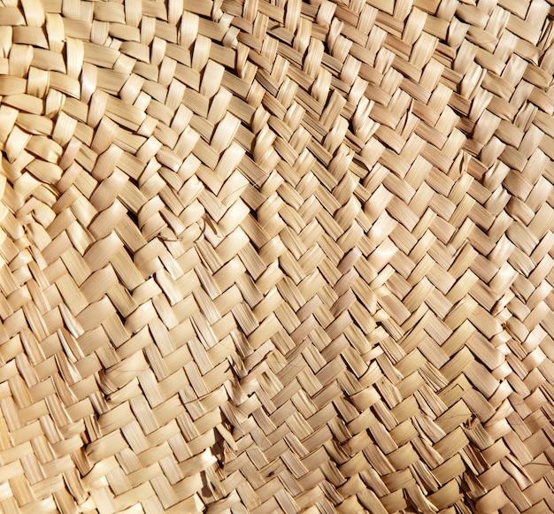 Textura secada entrelaçada tradicional da cestaria