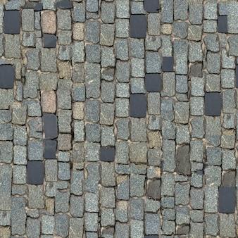 Textura sem emenda do bloco de pedra cinza escuro. (orientação vertical).