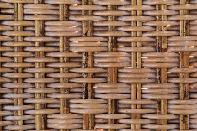 Textura sem emenda do teste padrão do rattan tecido. texturizado da cesta de vime.