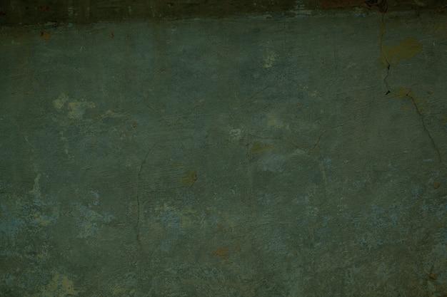 Textura suja de fundo de parede pintada de verde escuro com pintura esmaecida e rendilhado fino de rachaduras