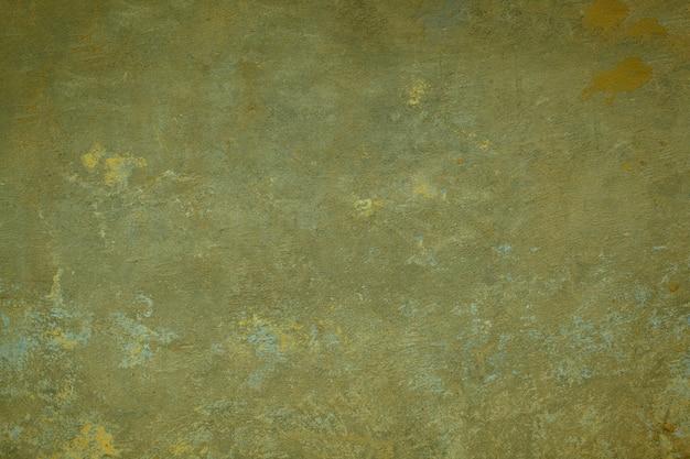 Textura suja de parede pintada de verde escuro com pintura esmaecida e rendilhado fino de rachaduras em uma exibição de quadro inteiro.