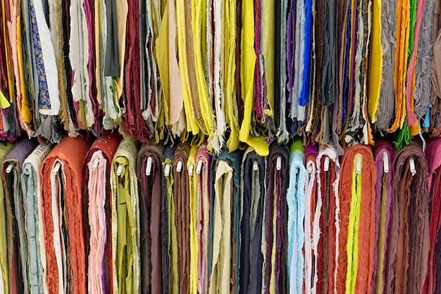 Textura têxtil colorida