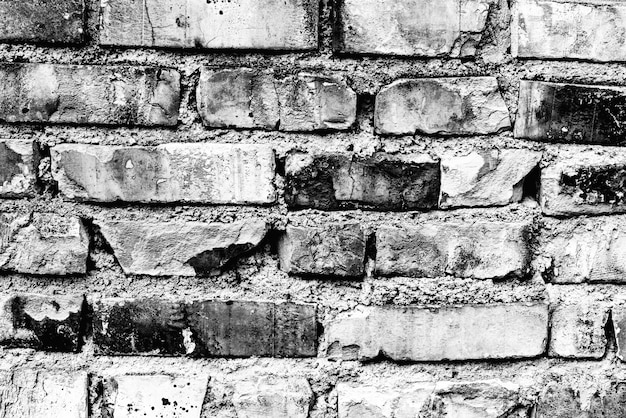 Textura, tijolo, parede, pode ser usado como pano de fundo. textura de tijolo com arranhões e rachaduras