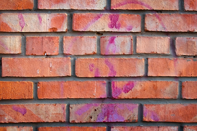 Textura velha da parede de tijolo de argila suja. alvenaria vintage