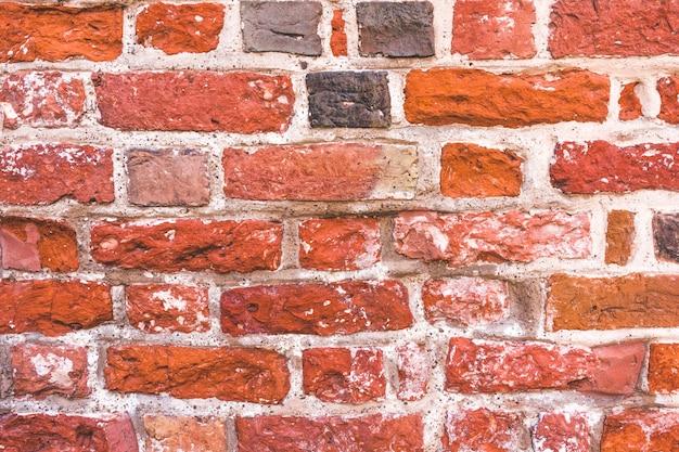 Textura velha da parede de tijolo vermelho