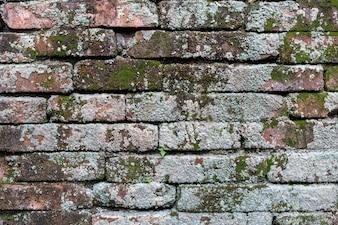 Textura velha do tijolo, trabalho de tijolo empilhado.