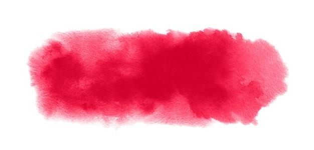 Textura vermelha de aquarela com mancha de aquarela, respingos de tinta