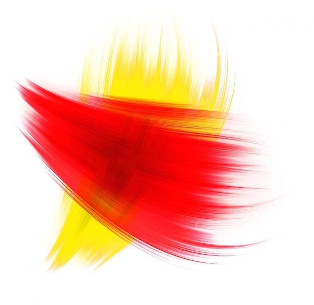 Textura vermelha e amarela, isolada no fundo branco