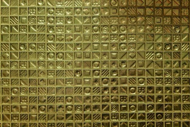 Textura vintage. textura dourada vintage antiga de mosaico para fundos.