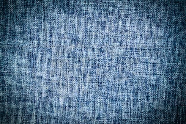 Texturas de algodão azul abstrato e superfície