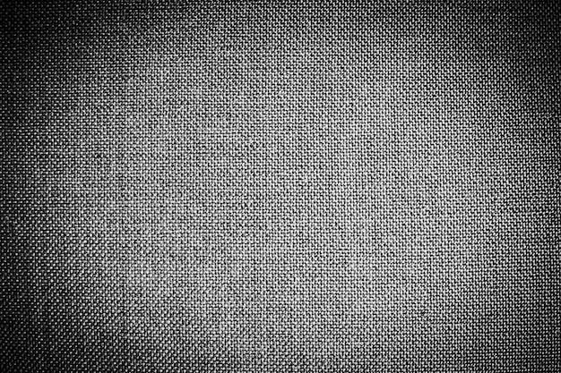 Texturas de algodão preto e superfície