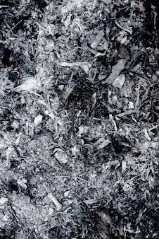Texturas de cinzas de batatas fritas com textura preta escura e cinza, usar para pano de fundo
