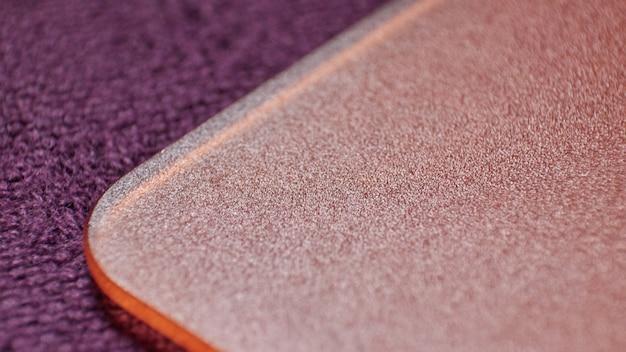 Texturas de design em tecido e plástico