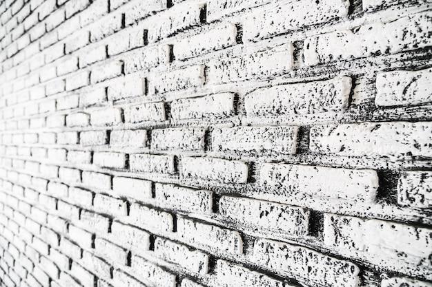 Texturas de parede de tijolo branco e cinza