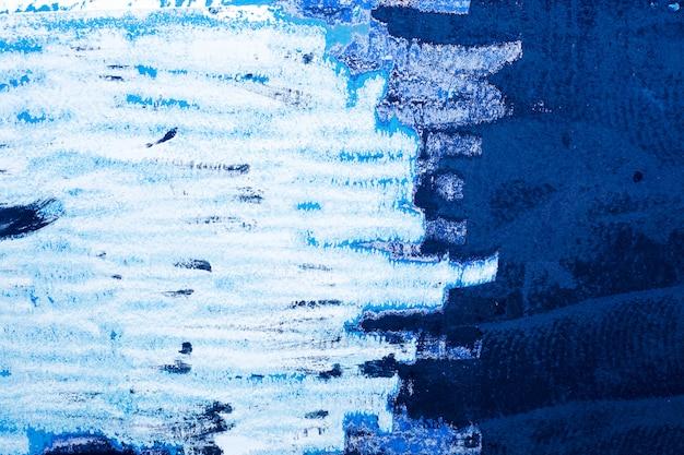 Texturas de parede de tinta grunge na cor azul