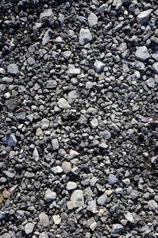 Texturas de pedra cinzenta de cascalho para concreto de mistura de asfalto