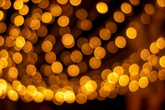 Texturas e reflexões de ouro bokeh