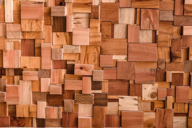 Texturizado de uso de fundo de cubo de madeira para padrão de textura de forma polivalente