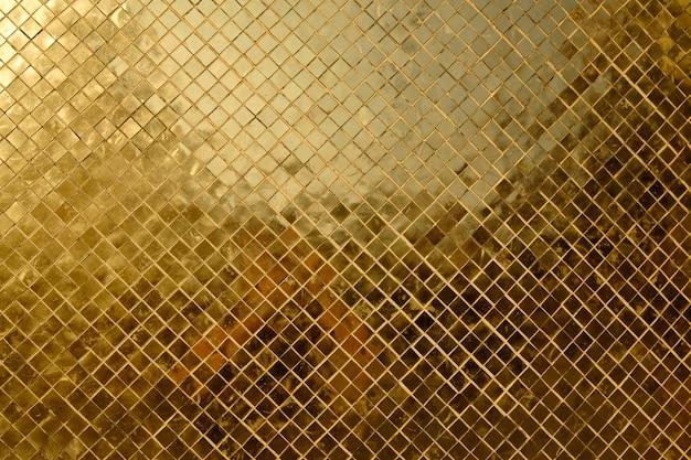Texure de rico mosaico dourado close-up